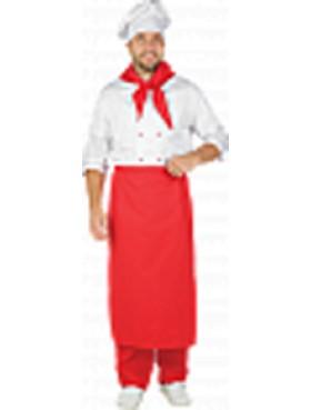 Костюм Шеф-повар белый с красным