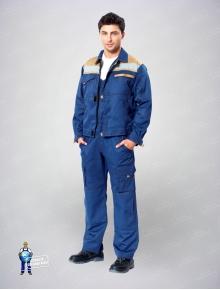 Куртка Рольф синий/беж