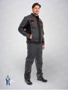 Костюм Бренд(куртка+брюки)темно-серый/черный