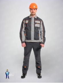 Костюм Бренд (куртка+полукомбинезон)светло-серый/серый
