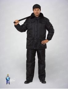 Куртка охранника утепленная черная