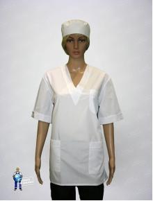 Куртка хирургическая белая