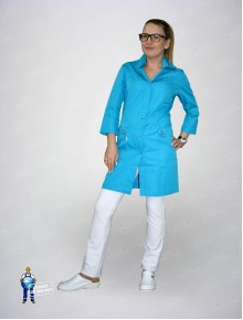 Блуза 306 голубая