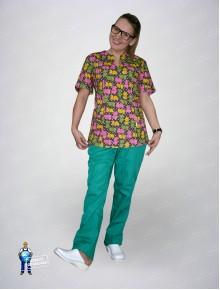 Блуза 331/1  бегемоты
