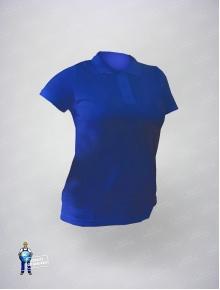 Рубашка-поло василек